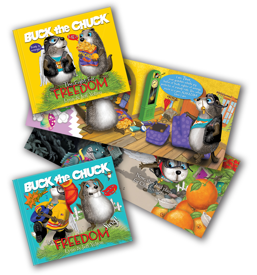 Buck the Chuck children's book series on freedom